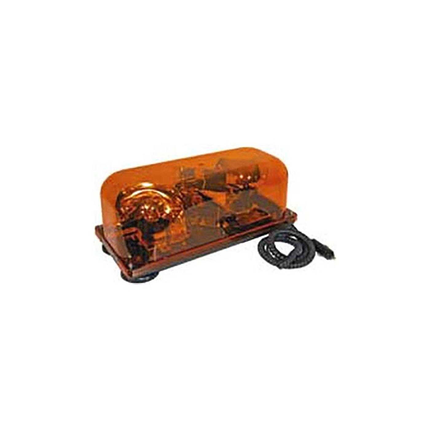 Quartz Halogen Magnetic Mount Mini Light Bar (Amber)
