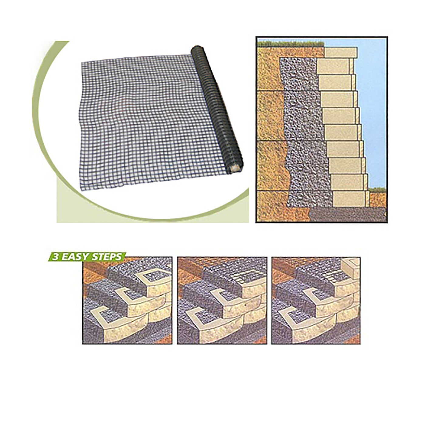 Geogrid 150D Retaining Wall System