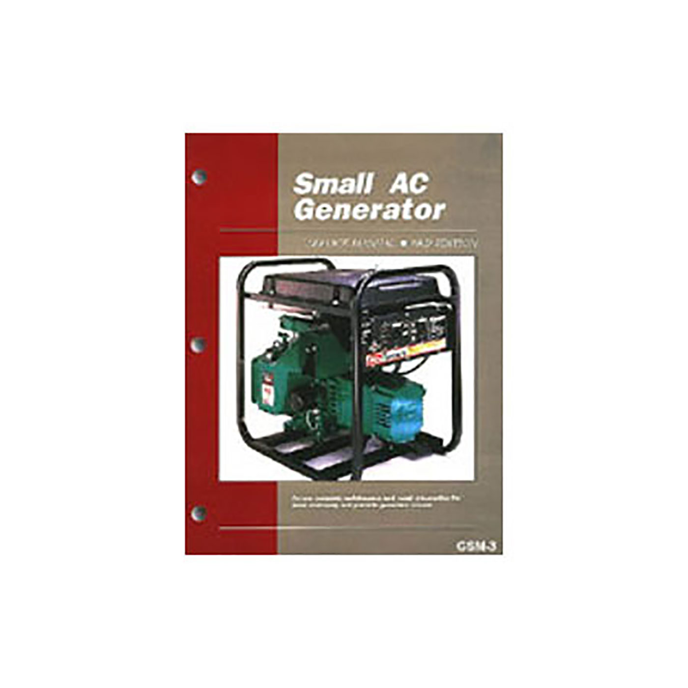 Small AC Generator Maintenance & Repair Manual